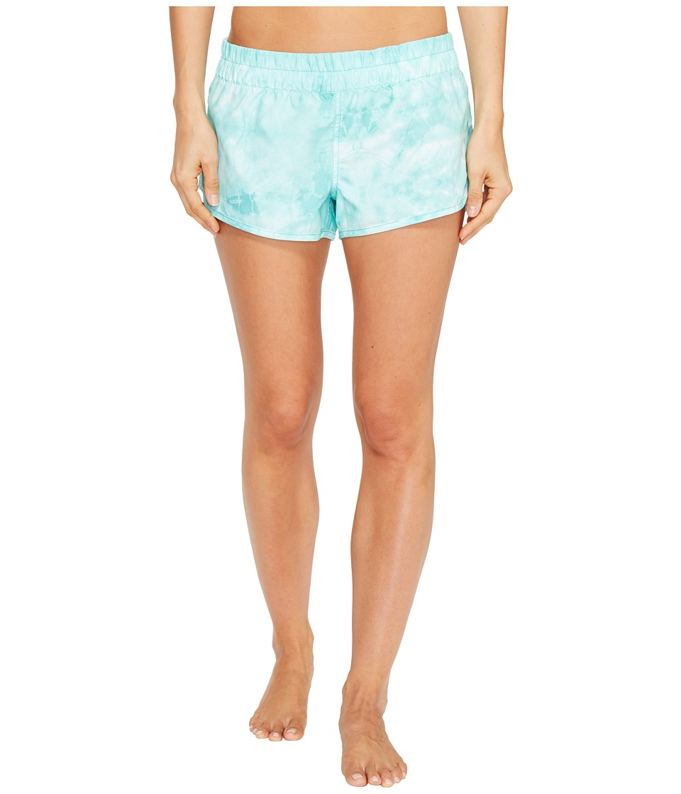 Hurley - Supersuede Tie-Dye Beachrider Bottoms (Washed Teal) Women's Swimwear