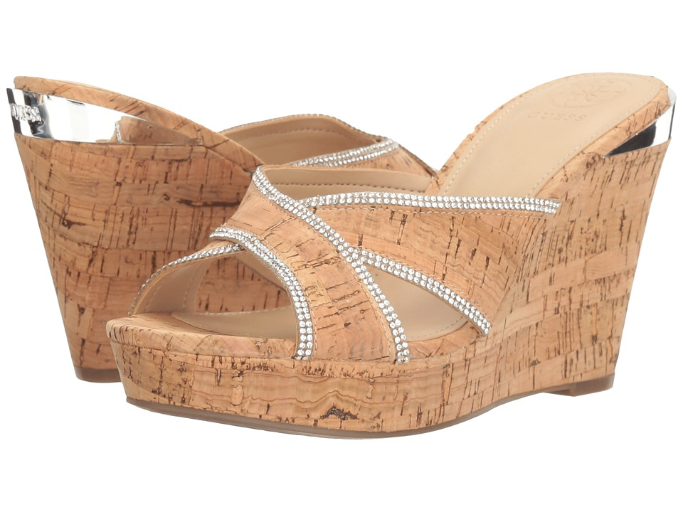 GUESS - Eleonora (Natural) Women's Wedge Shoes
