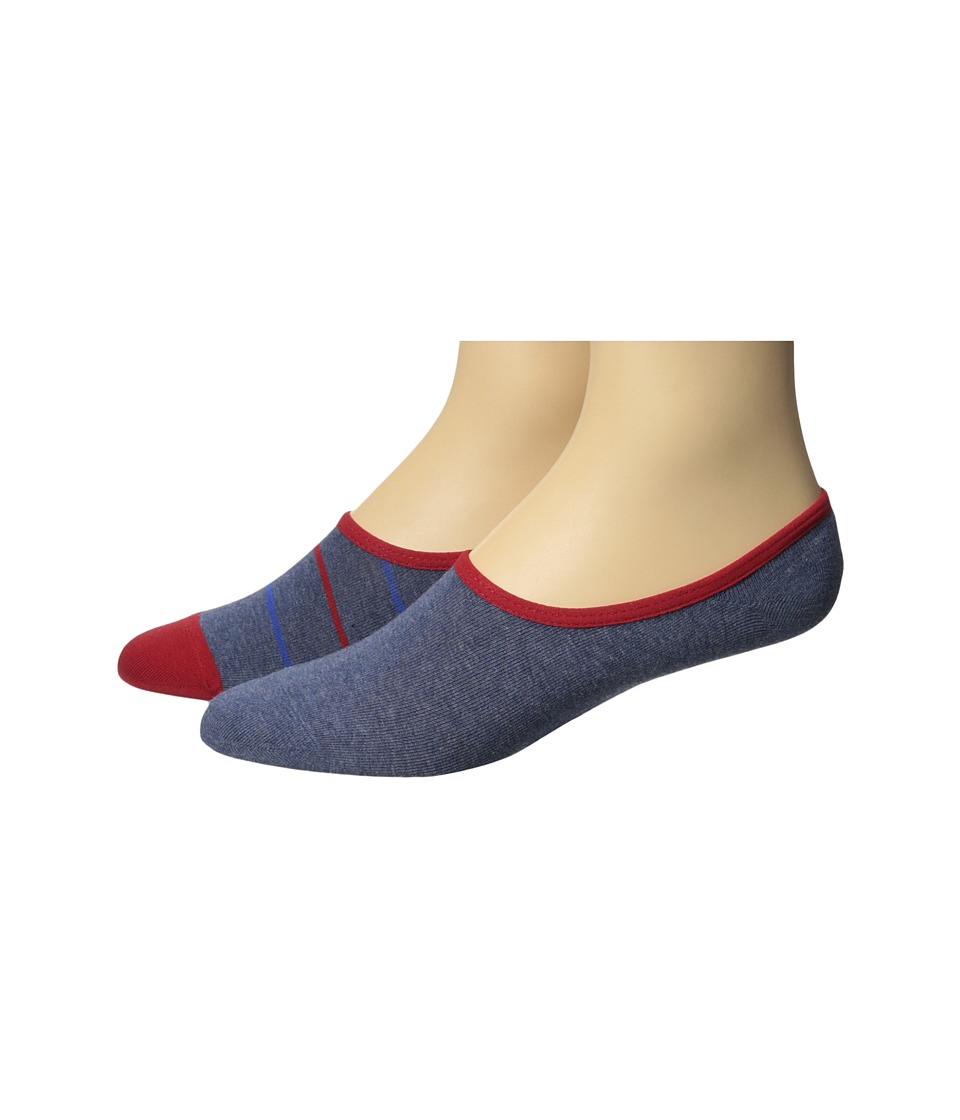 Timberland - Canvas Shoe Liner 2-Pack (Assorted Denim/Red) Men's No Show Socks Shoes