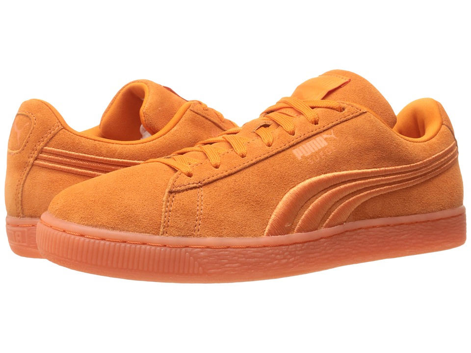 PUMA - Suede Classic Badge Iced (Golden Poppy) Men's Shoes