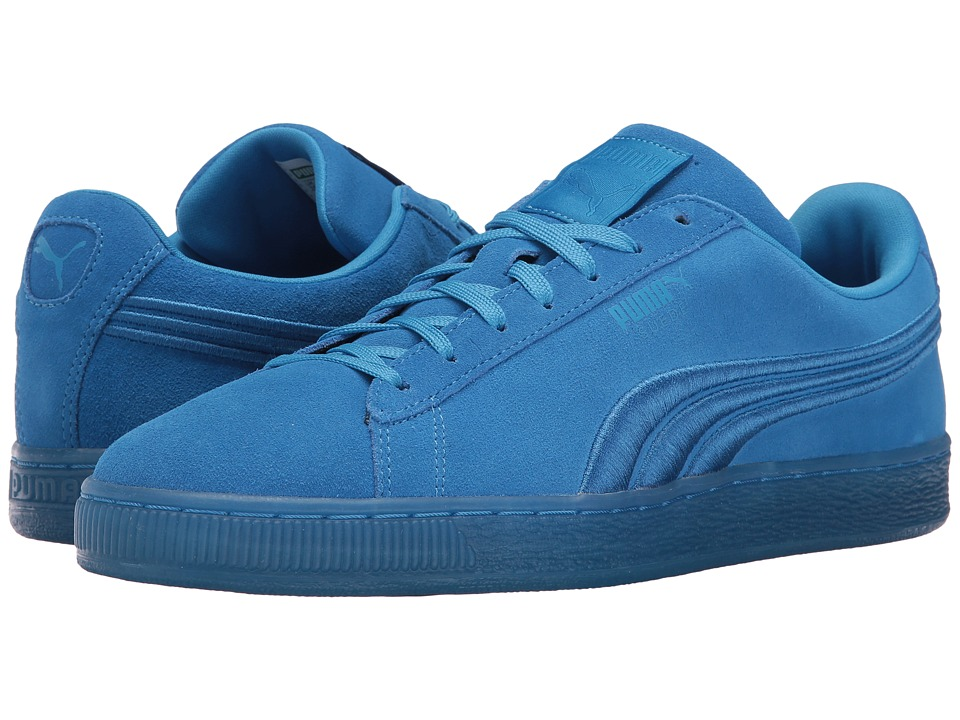 PUMA - Suede Classic Badge Iced (French Blue) Men's Shoes