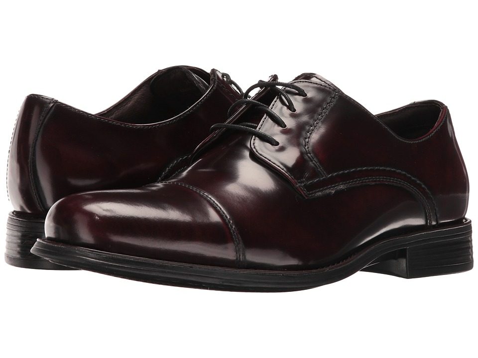 Johnston & Murphy - Atchison Cap Toe (Burgundy) Men's Shoes