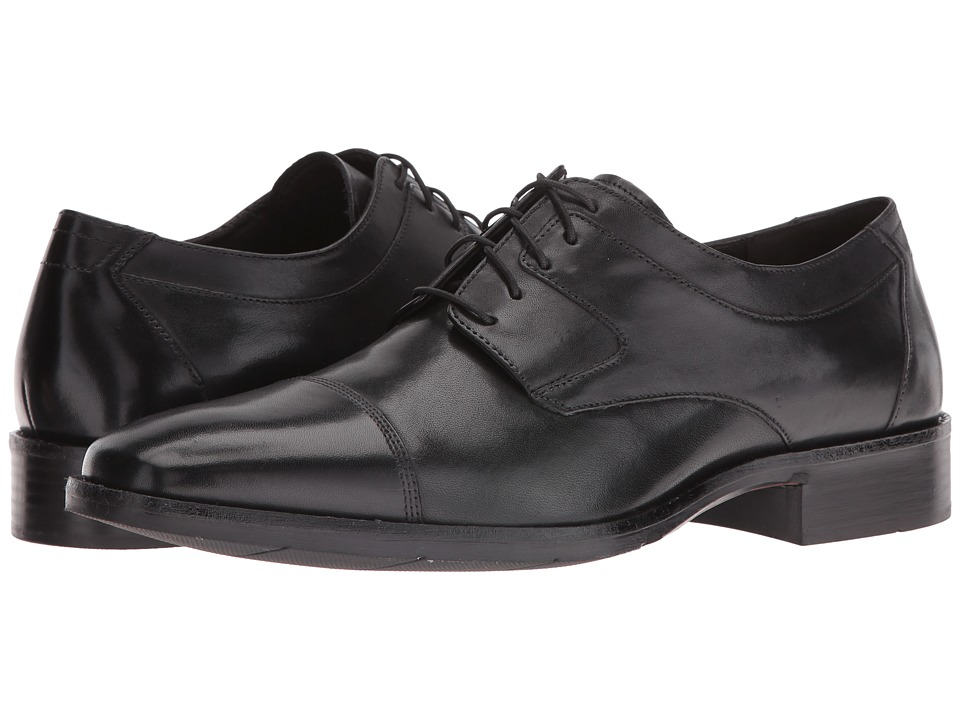 Johnston & Murphy - Landrum Cap Toe (Black) Men's Shoes