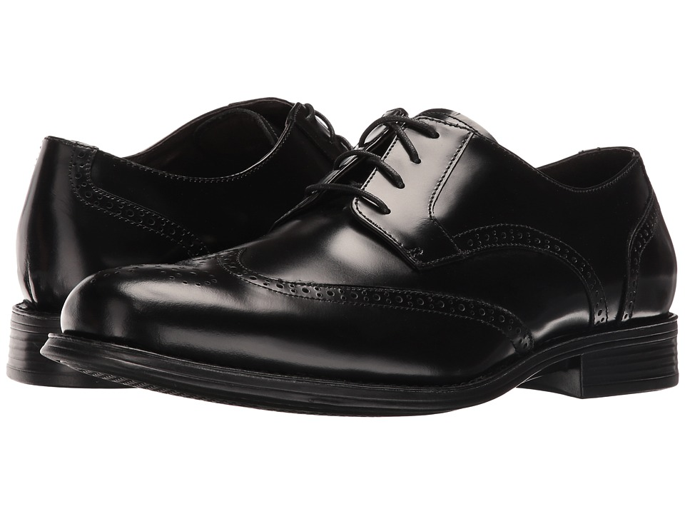 Johnston & Murphy - Atchison Wing (Black) Men's Shoes