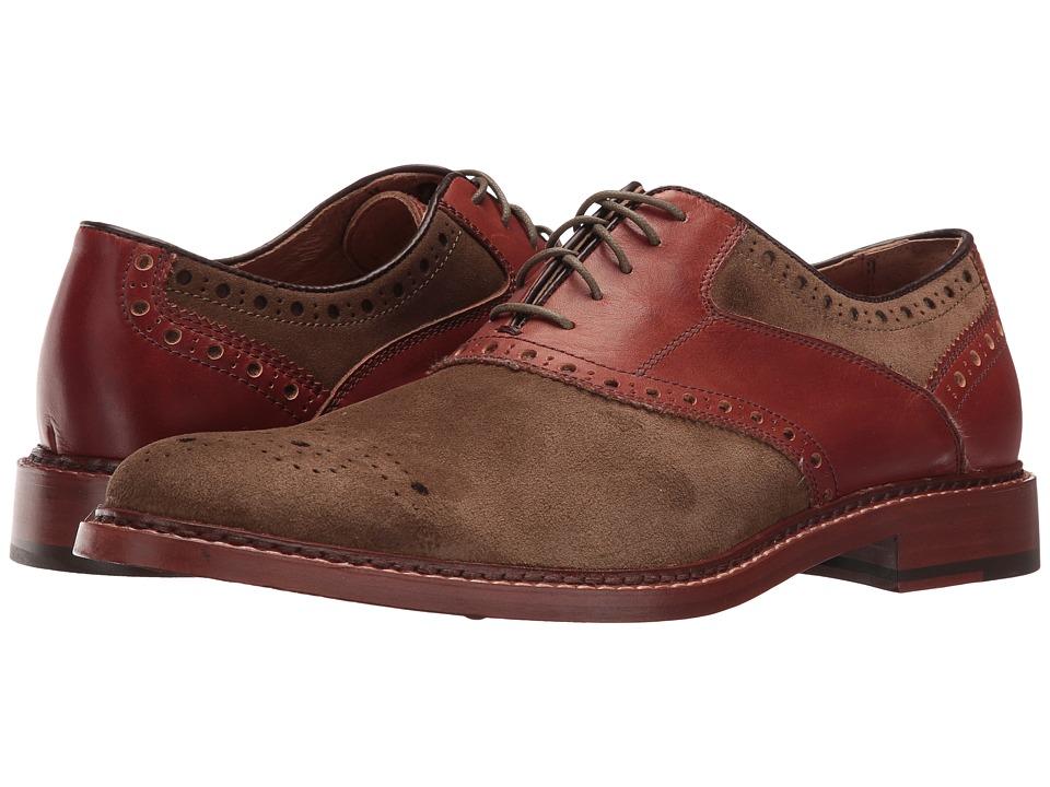 Johnston & Murphy - McGavock Saddle (Olive) Men's Shoes