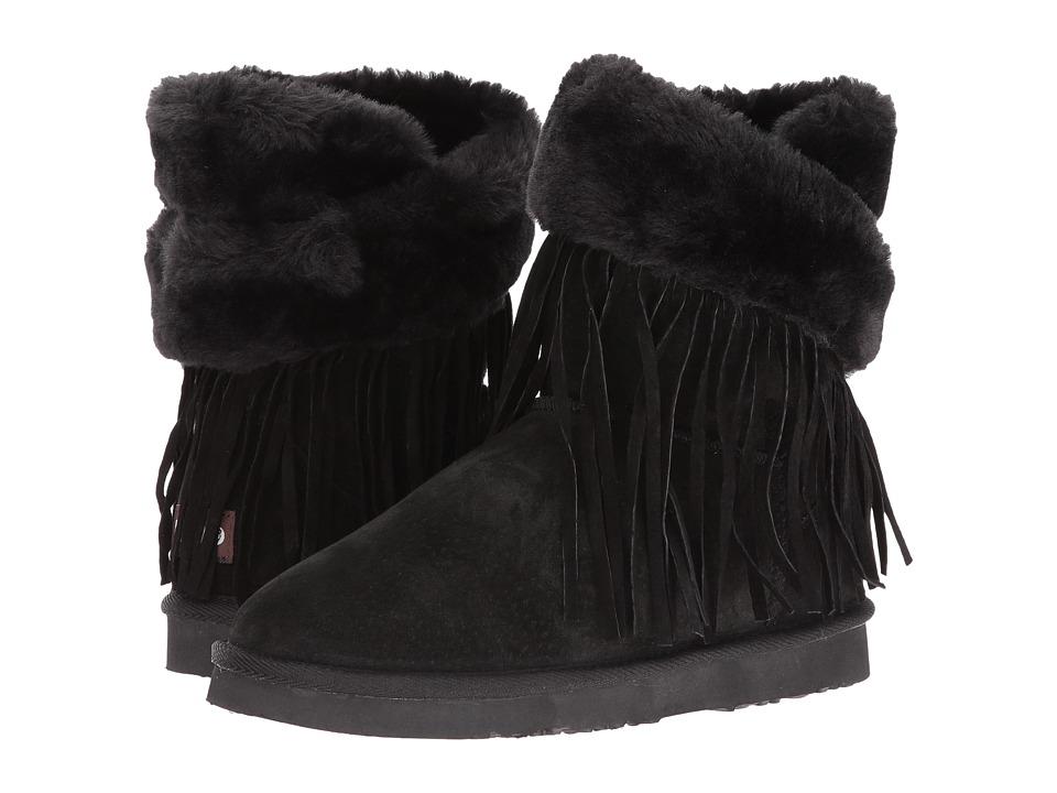 Lamo - Fringe Wrap (Black) Women's Shoes
