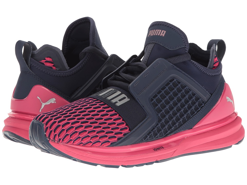 PUMA - Ignite Limitless Color Block (Peacoat/Sparkling Cosmo) Women's Shoes