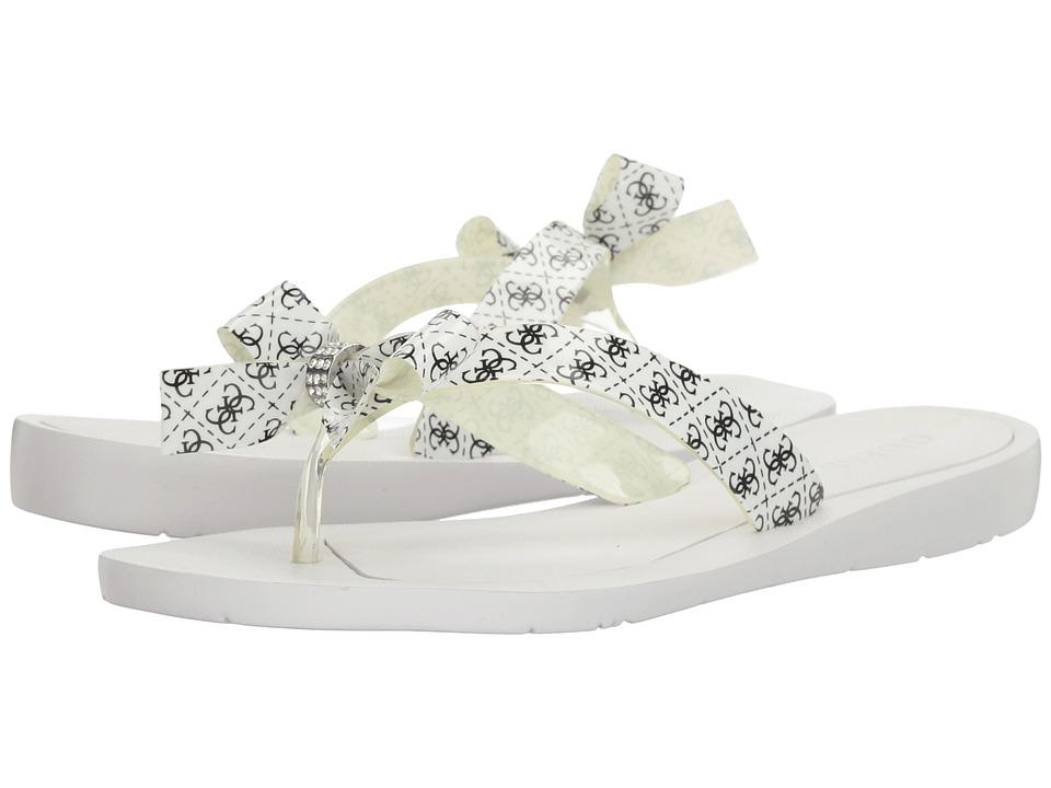 GUESS - Tutu (Black/White Logo) Women's Sandals
