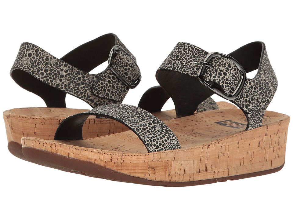 FitFlop - Bon Sandal (Black/White Cirque) Women's Shoes