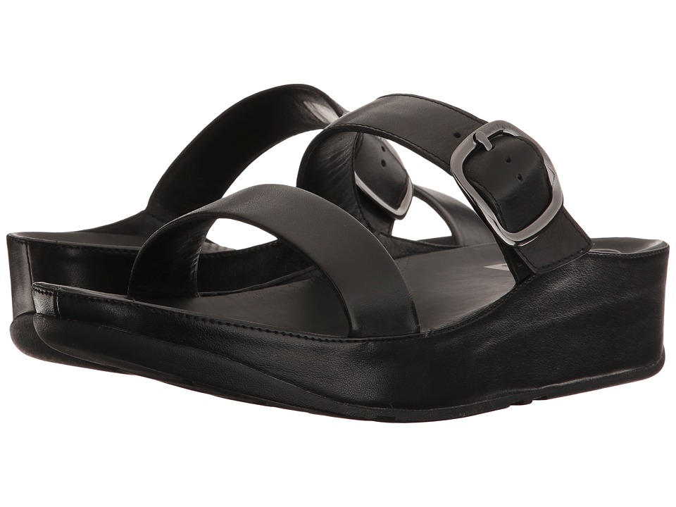 FitFlop - Stack Slide (Black 2) Women's Sandals