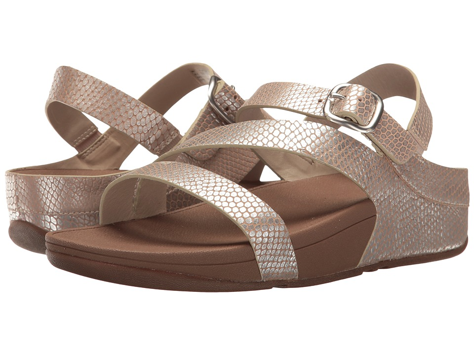 FitFlop - The Skinny Z-Cross Sandal (Silver Snake) Women's Sandals