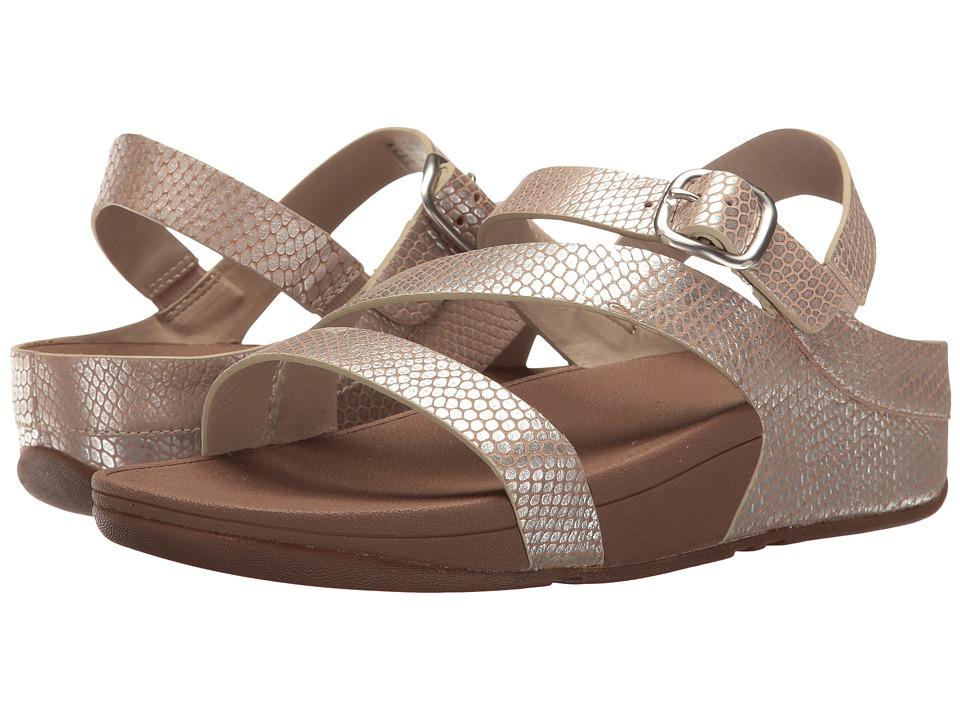 FitFlop The Skinny Z-Cross Sandal (Silver Snake) Women