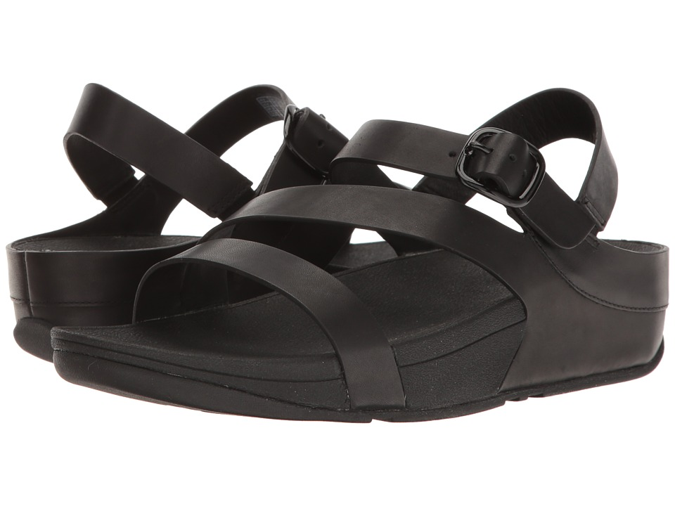 FitFlop - The Skinny Z-Cross Sandal (All Black) Women's Sandals