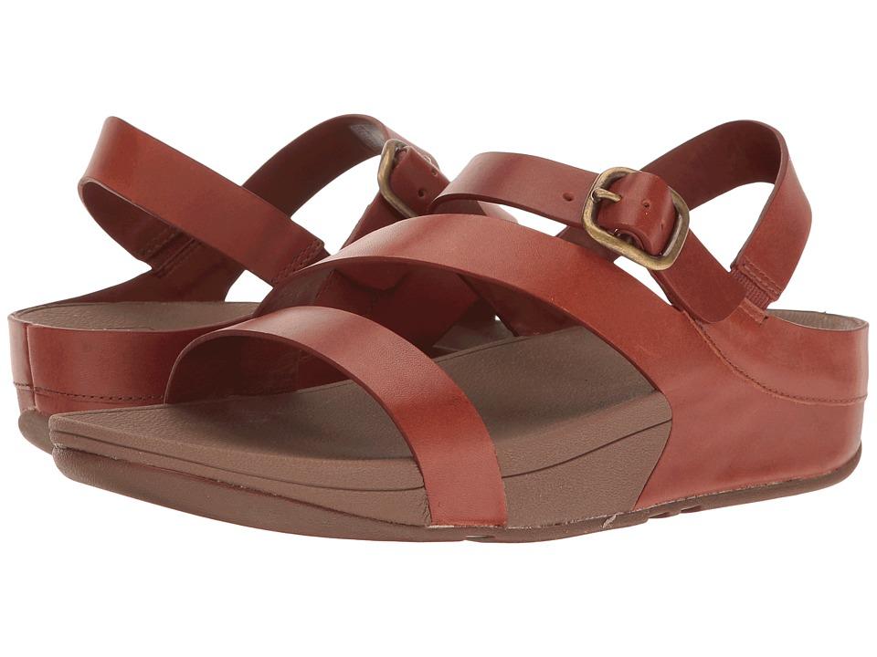 FitFlop - The Skinny Z-Cross Sandal (Dark Tan) Women's Sandals