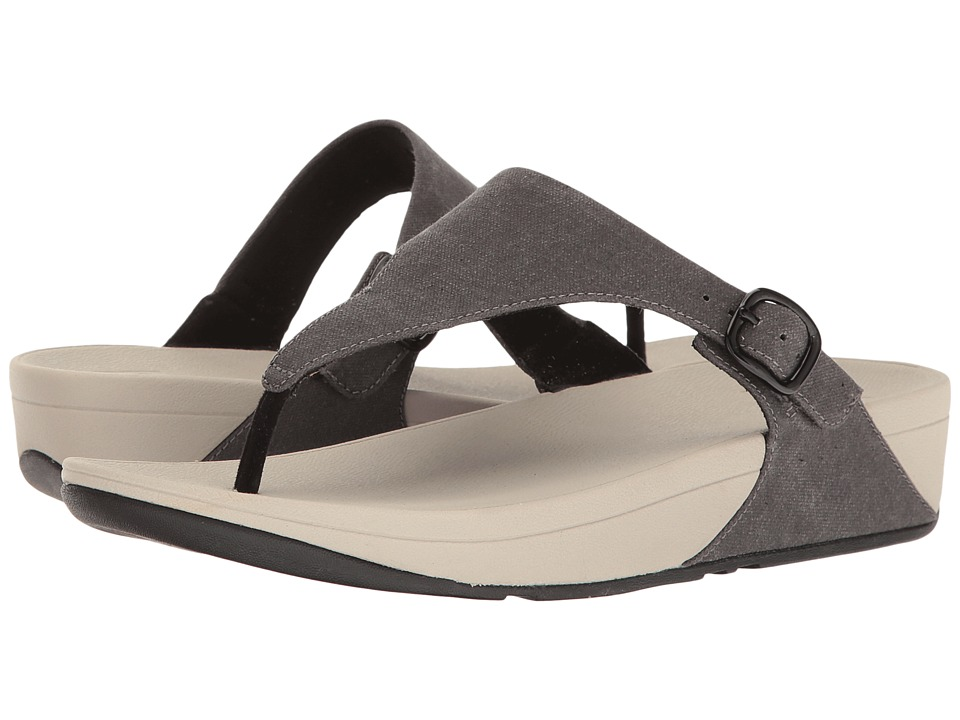 FitFlop - The Skinny Canvas (Black) Women's Sandals