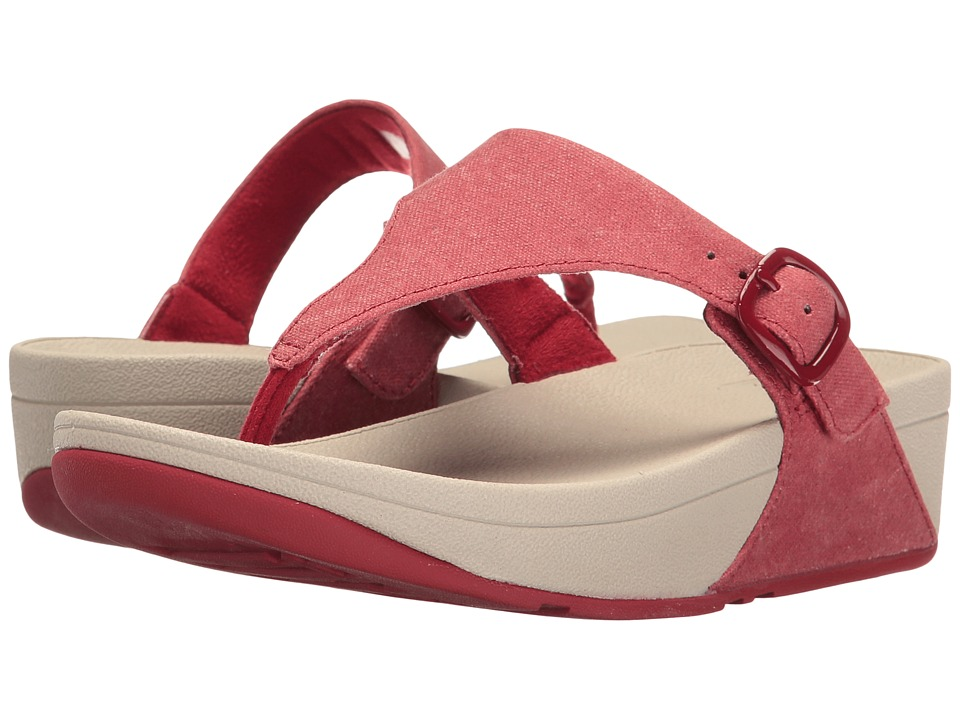 FitFlop The Skinny Canvas (Classic Red) Women