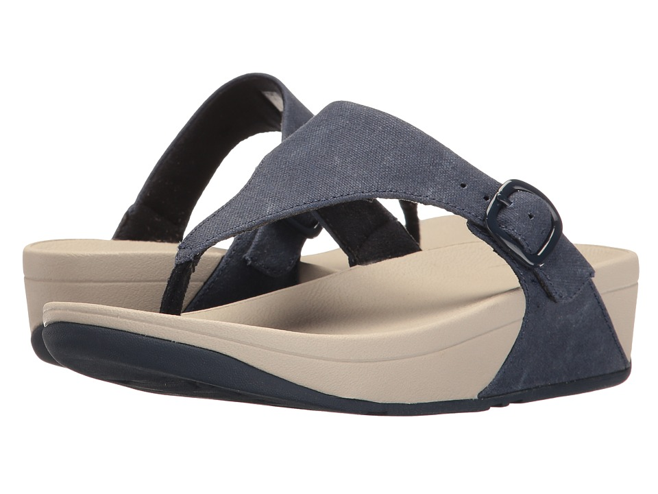 FitFlop - The Skinny Canvas (Midnight Navy) Women's Sandals