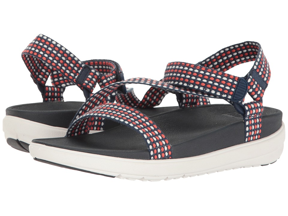 FitFlop - Z-Strap (Neon Blush/Midnight Navy) Women's Sandals