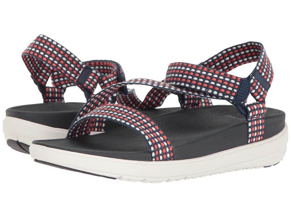 FitFlop - Z-Strap (Neon Blush/Midnight Navy) Women's Sandals