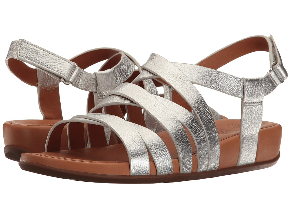 FitFlop Lumy Leather Sandal Silver Sandals