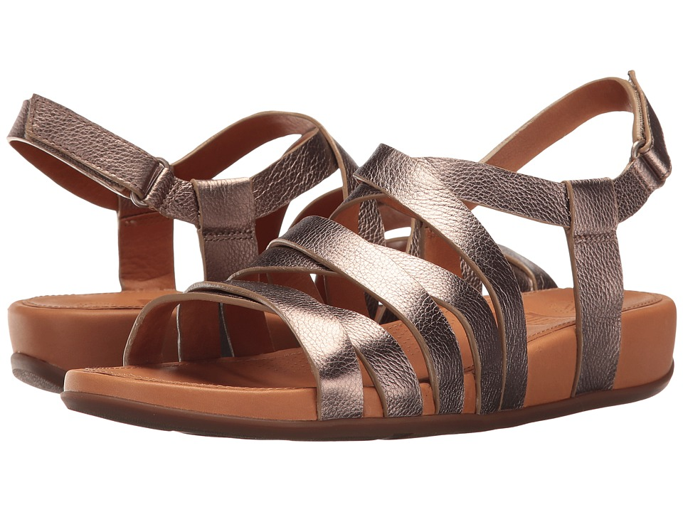 FitFlop - Lumy Leather Sandal (Bronze) Women's Sandals