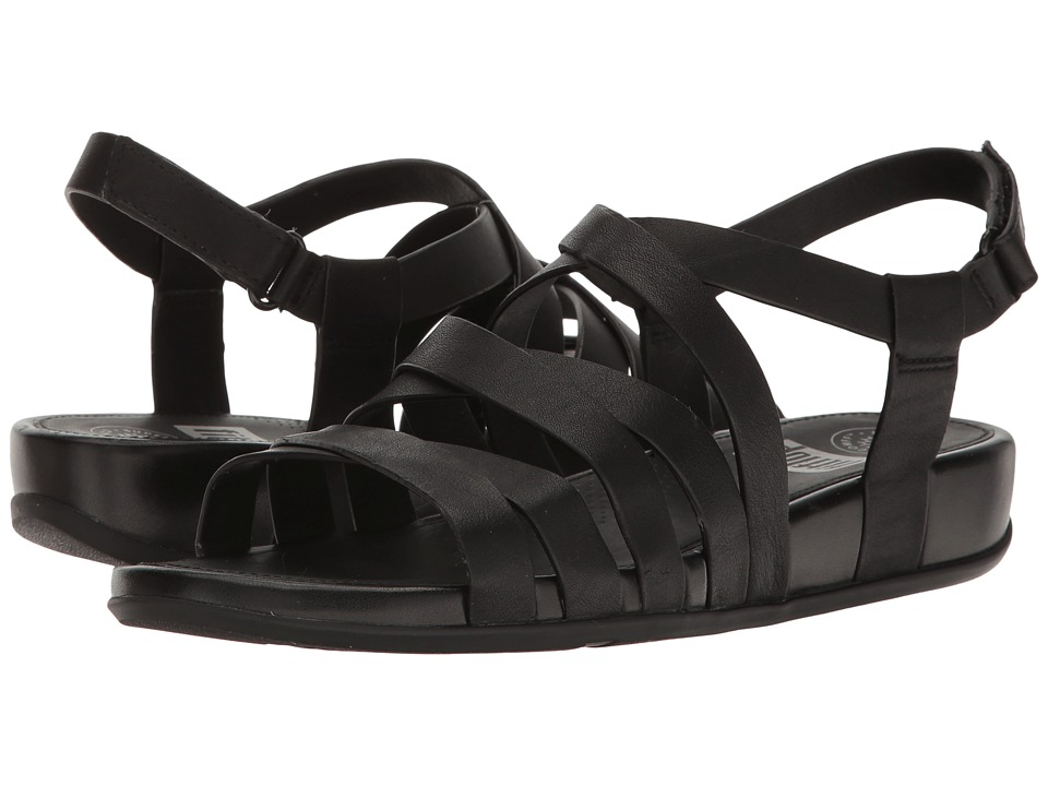FitFlop Lumy Leather Sandal (All Black) Women