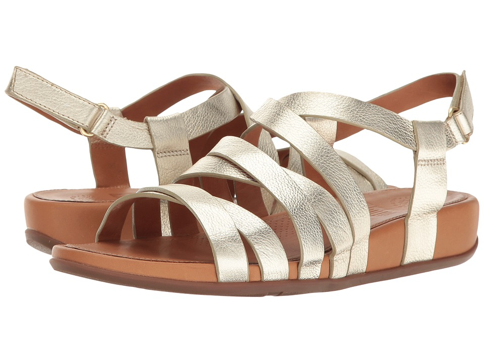 FitFlop - Lumy Leather Sandal (Pale Gold) Women's Sandals