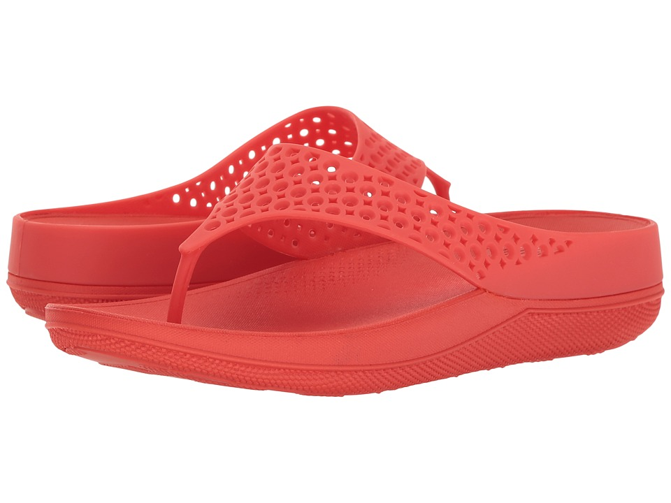 FitFlop - Ringer Welljelly Flip-Flop (Flame) Women's Sandals