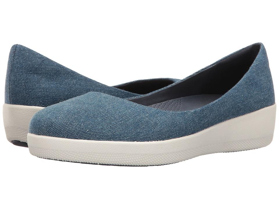 FitFlop - Denim Superballerina (Denim) Women's Shoes