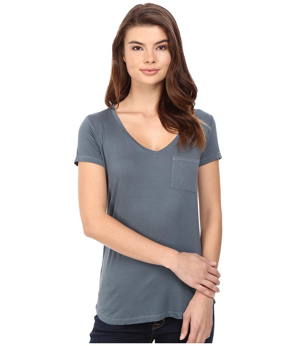 Paige - Lynnea Tee (Dark Slate) Women's Short Sleeve Pullover