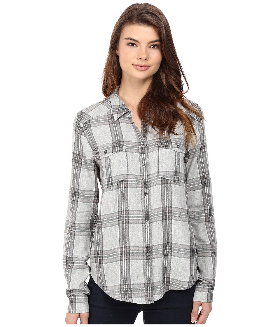 Paige - Mya Shirt (Forged Iron/Heather Grey) Women's Clothing