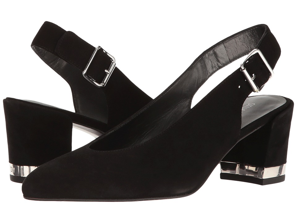 Stuart Weitzman - Lamellamid (Black Suede 1) Women's Shoes