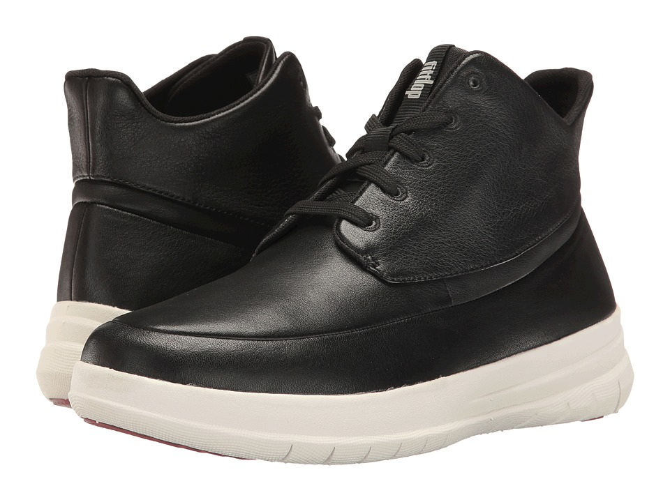 FitFlop - Sporty Pop High-Top (Black) Women's Lace up casual Shoes