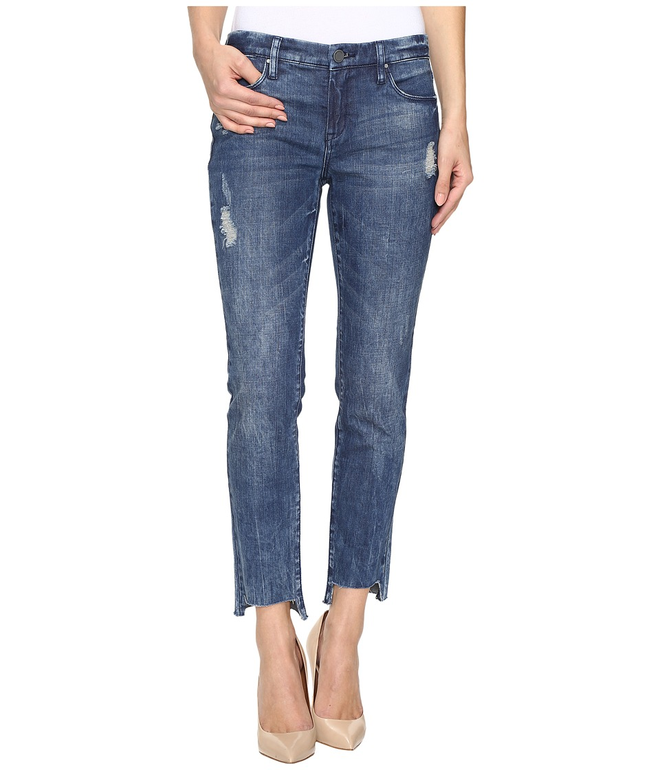 Blank NYC - Cropped Denim Distressed Skinny Raw Hem Jeans in Club Kid (Club Kid) Women's Jeans