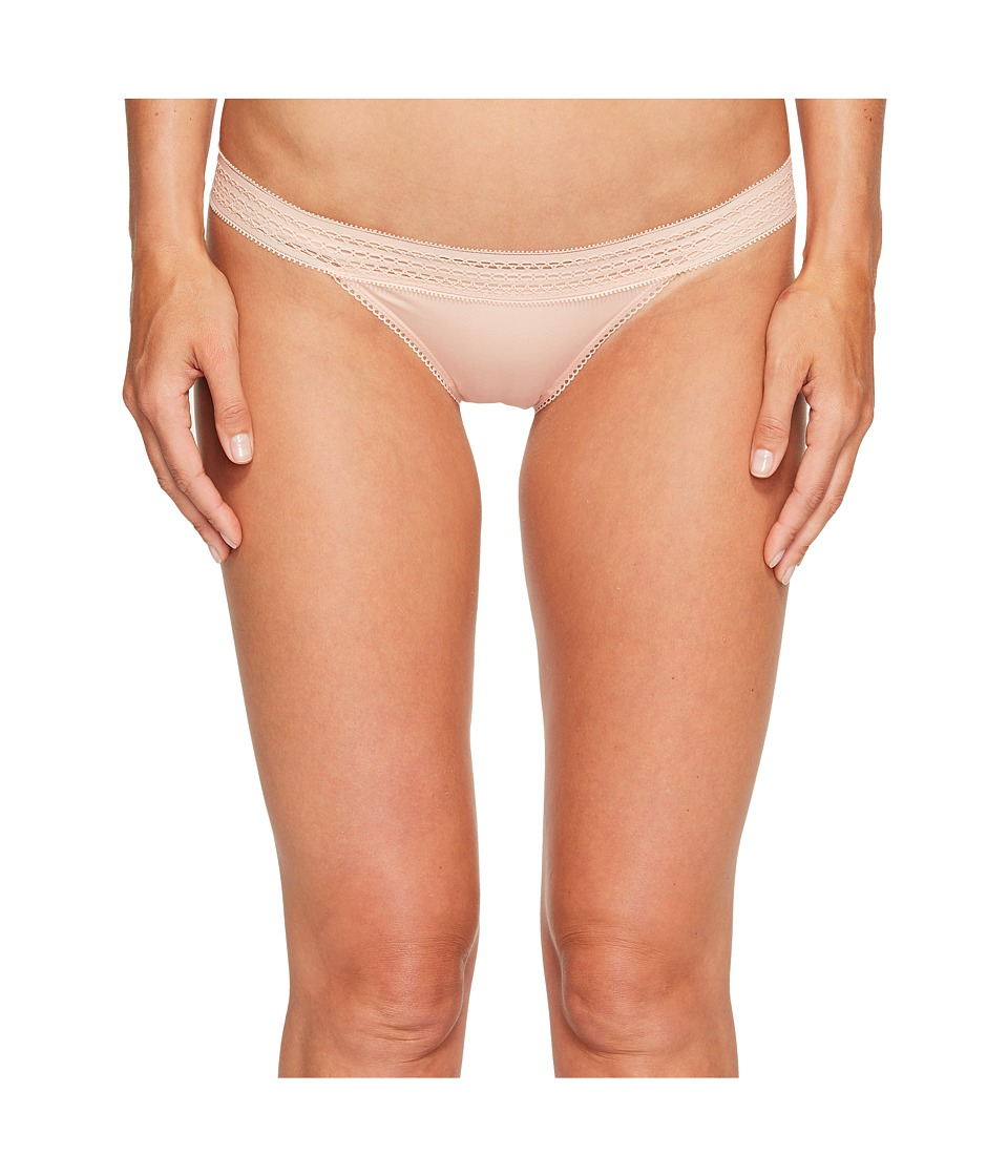 DKNY Intimates - Classic Cotton Bikini Lace Trim (Blush) Women's Underwear