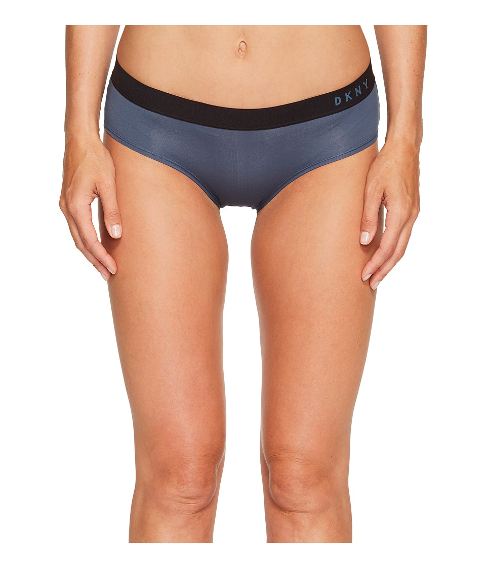 DKNY Intimates - Classic Cotton Boy Brief (Steel Blue/Black) Women's Underwear
