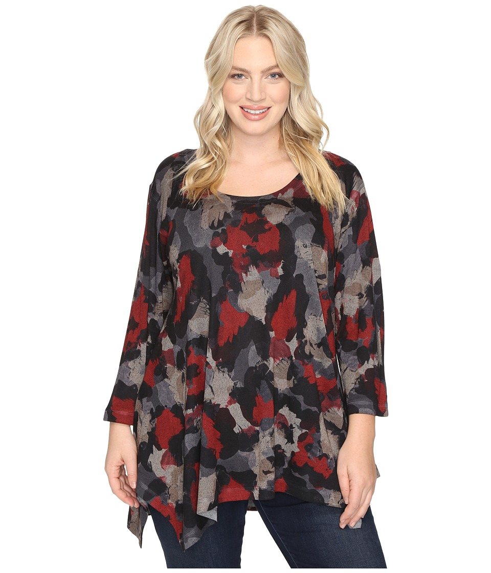 Nally & Millie - Plus Size Camouflage Print Tunic (Multi) Women's Blouse