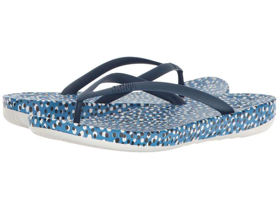 FitFlop - Iqushion Ergonomic Bubbles Flip-Flop (Bright Blue Bubbles) Women's Sandals