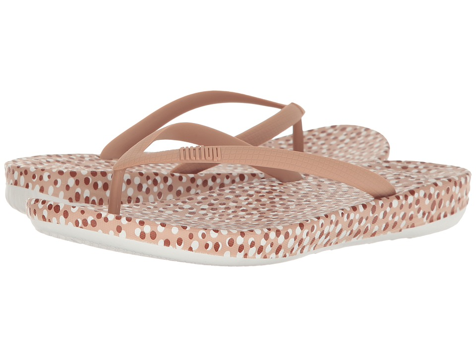 FitFlop - Iqushion Ergonomic Bubbles Flip-Flop (Nude Bubbles) Women's Sandals