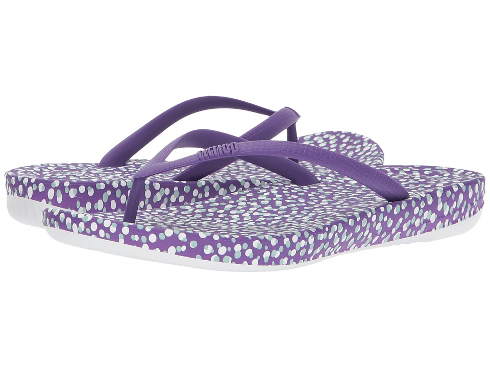 FitFlop - Iqushion Ergonomic Bubbles Flip-Flop (Purple Bubbles) Women's Sandals