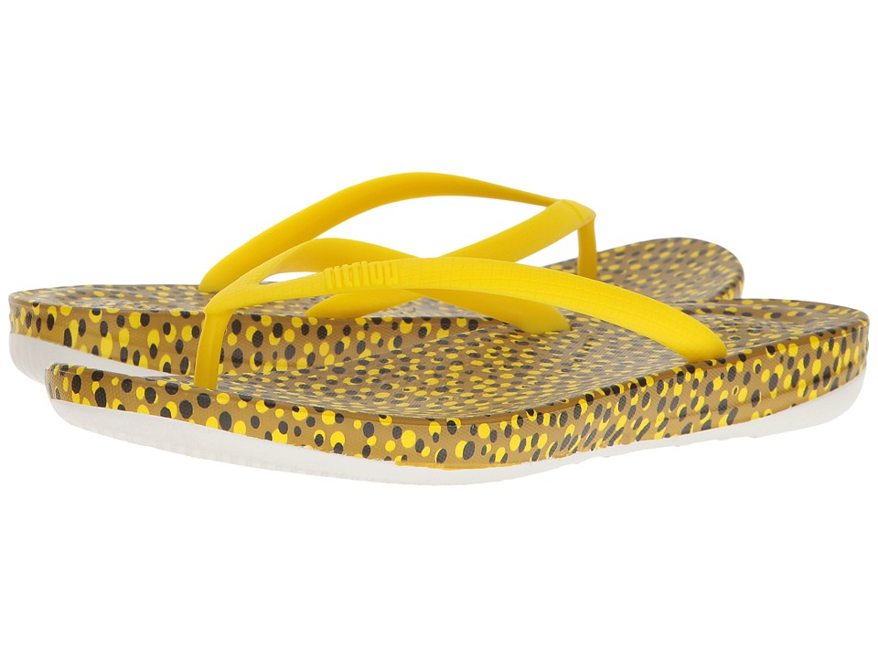 FitFlop - Iqushion Ergonomic Bubbles Flip-Flop (Yellow Bubbles) Women's Sandals