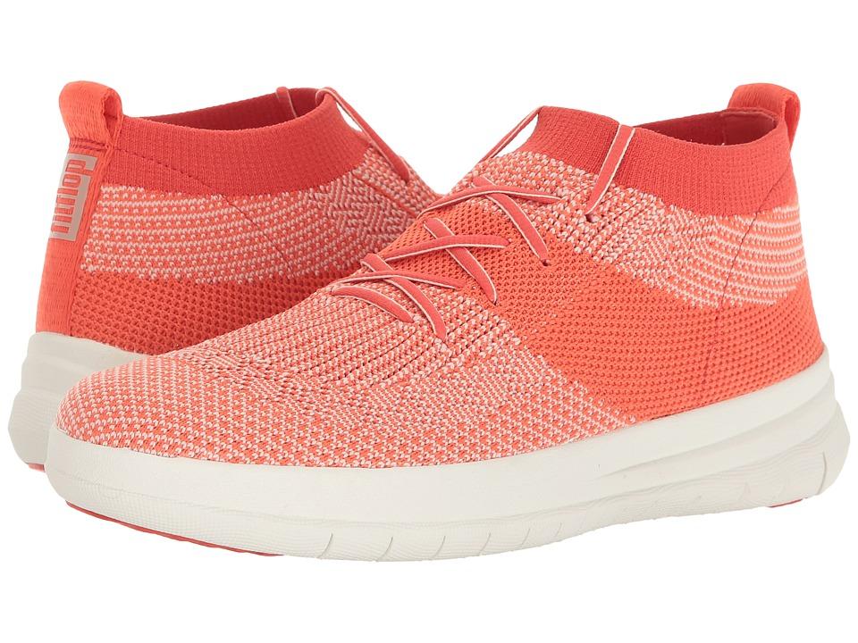 FitFlop - Uberknit Slip-On High-Top Sneaker (Hot Coral/Neon Blush) Women's Slip on Shoes