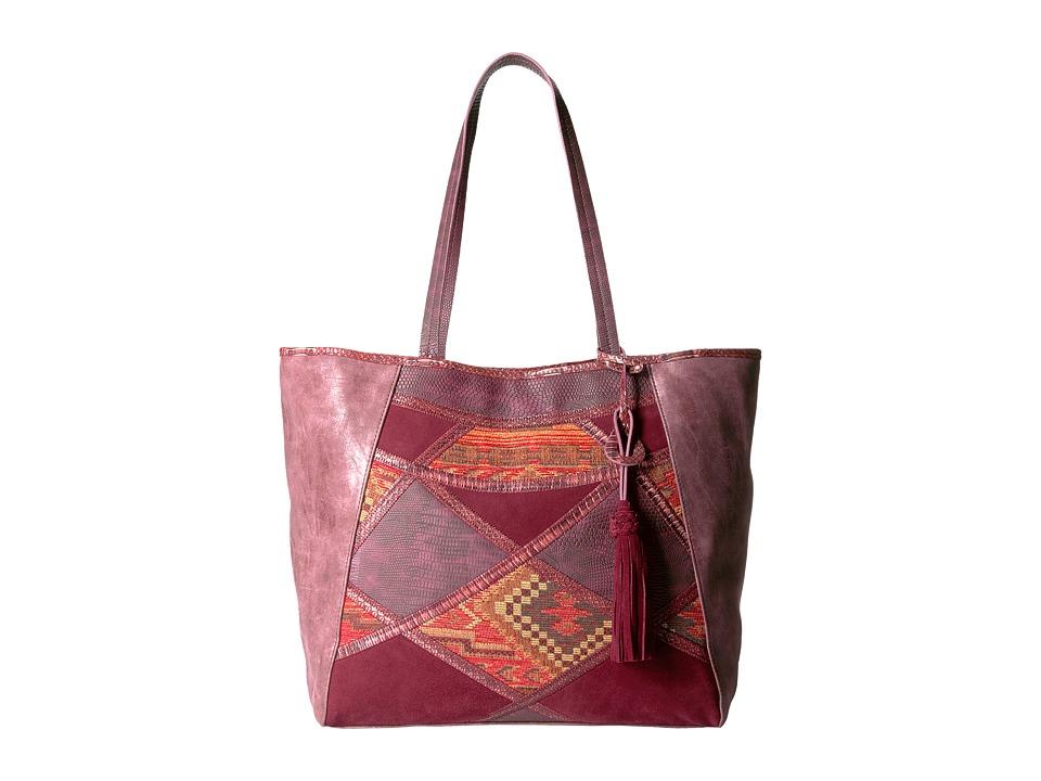Steven - Myles Tapestry Tote (Wine) Tote Handbags