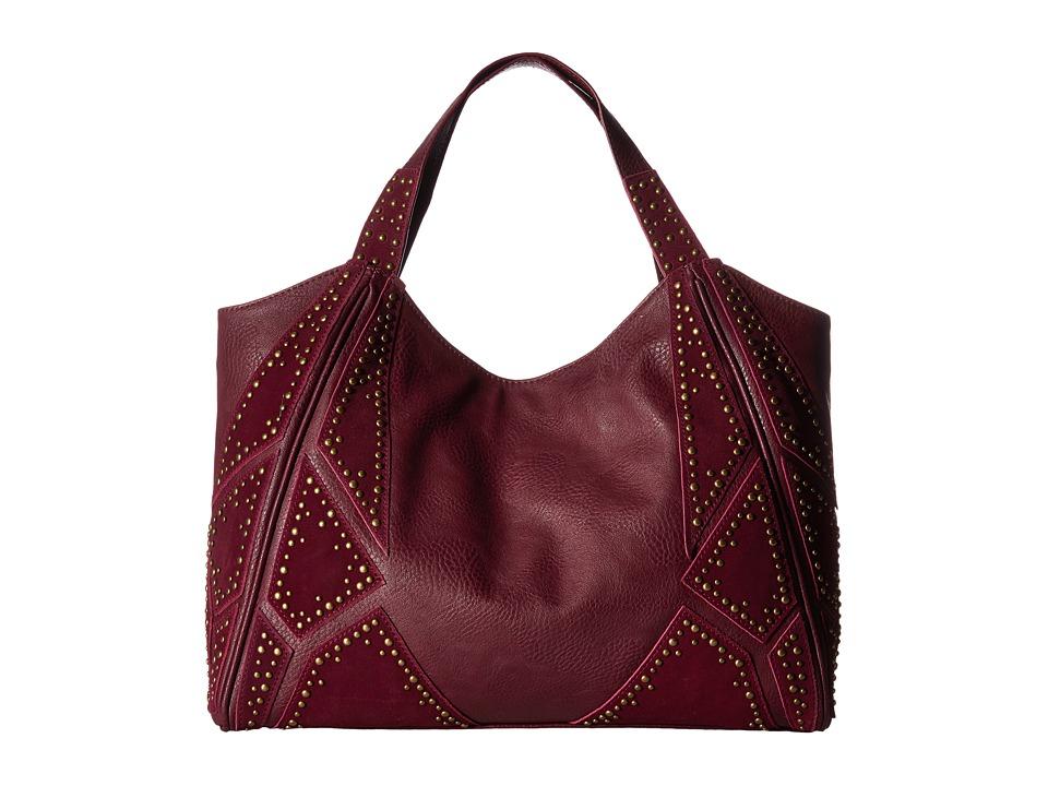 Steven - Lora Suede Patchwork Hobo (Wine) Hobo Handbags