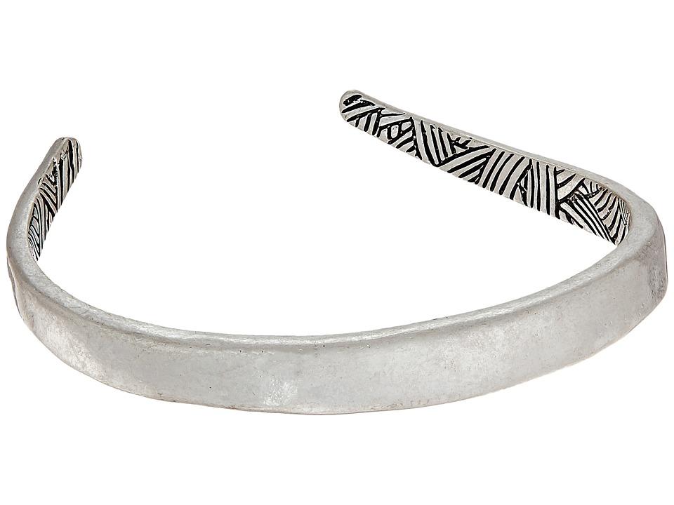 The Sak - Curved Cuff Bracelet (Silver) Bracelet