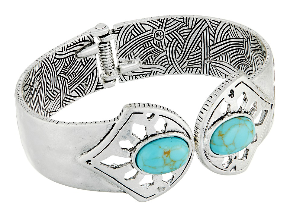 The Sak - Stone Hinge Cuff Bracelet (Turquoise) Bracelet
