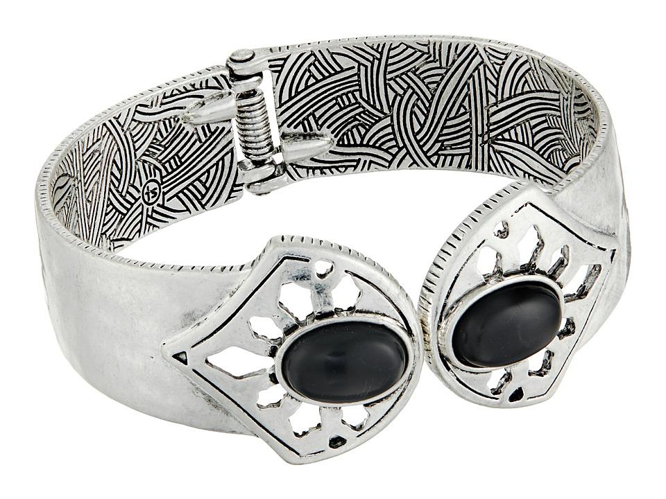 The Sak - Stone Hinge Cuff Bracelet (Black/Silver) Bracelet