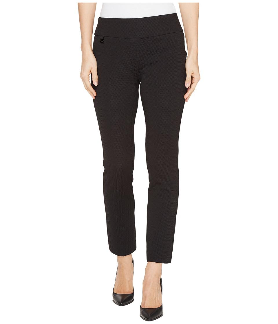 Lisette L Montreal - Pique Knit Ankle Pants (Black) Women's Casual Pants