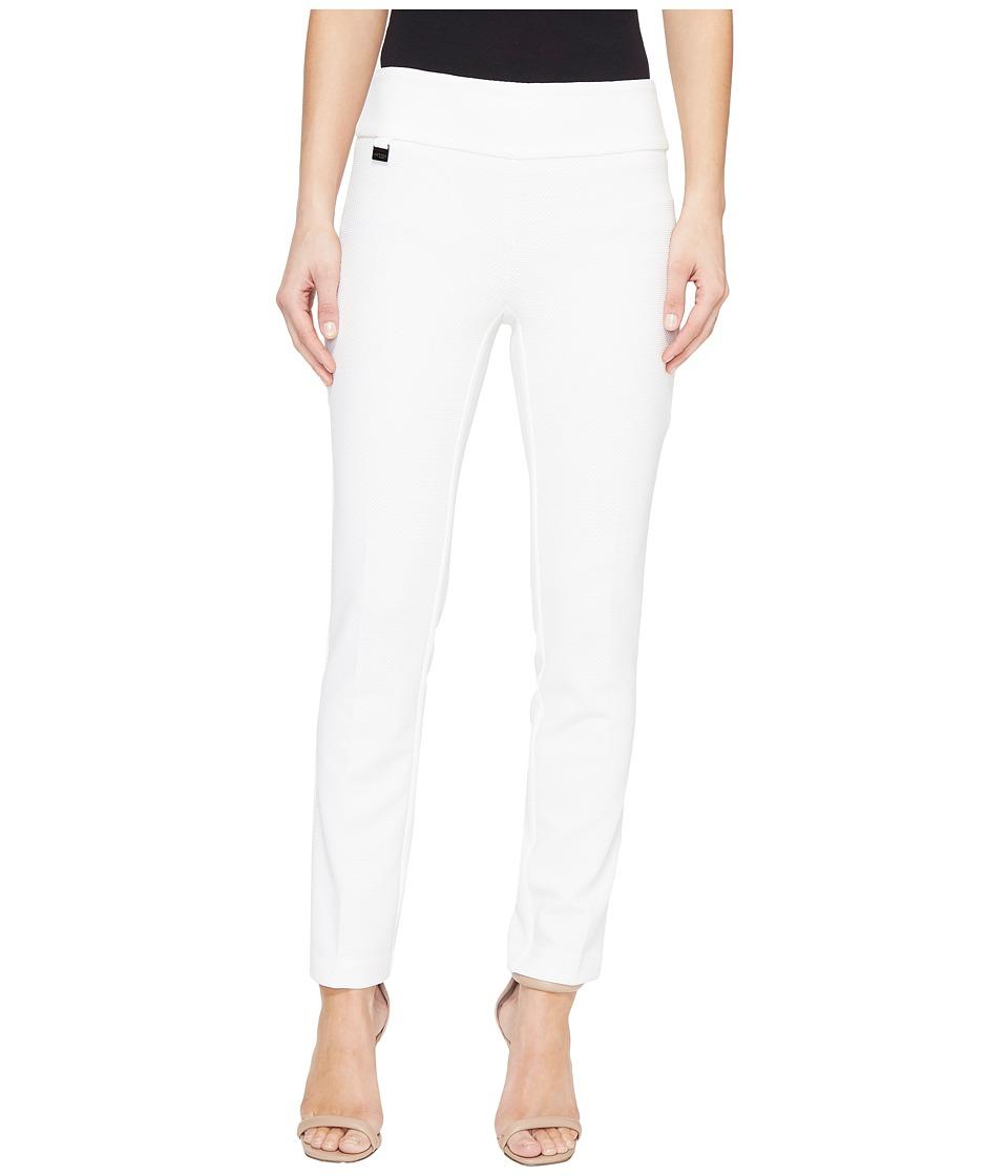 Lisette L Montreal - Pique Knit Ankle Pants (White) Women's Casual Pants
