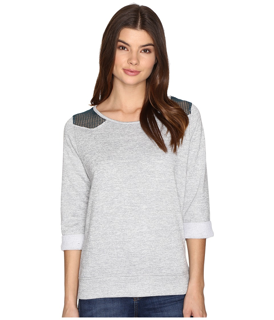 Cruel - French Terry Crew Neck Pullover (Gray) Women's Clothing